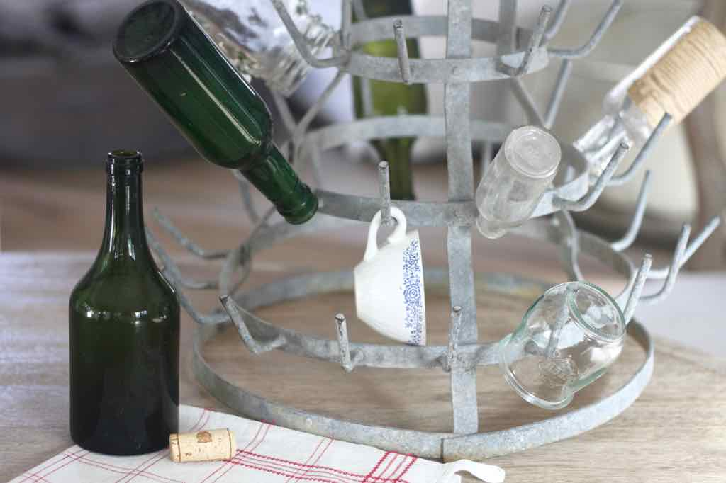 3 Ways to Use a Vintage Bottle Drying Rack